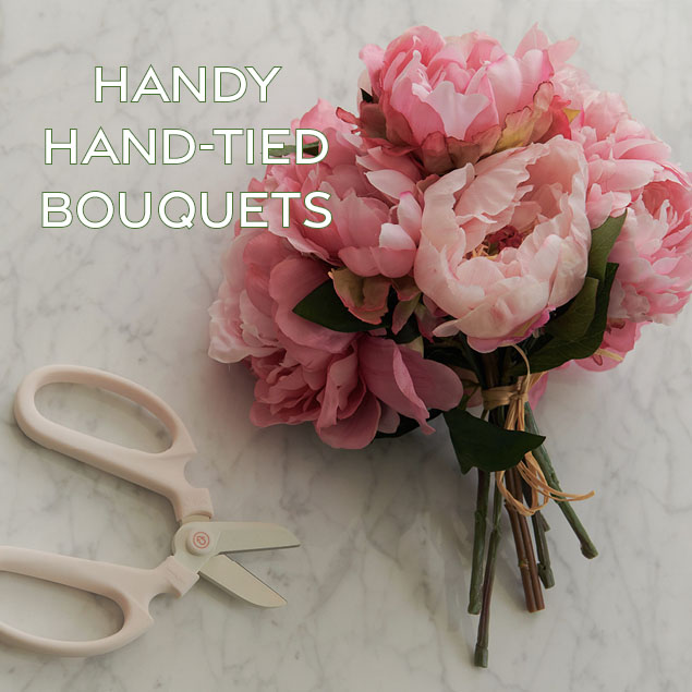 handy hand tied bouquets