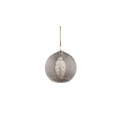 PINE CONE IN FROST ORNAMENT