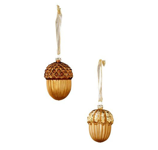 GOLDEN ACORN ORNAMENTS