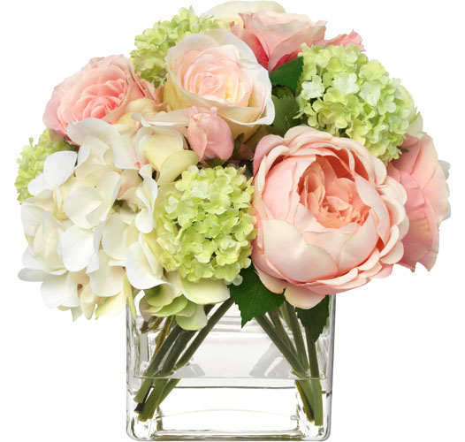 BLOOMS PINK HYDRANGEA AND ROSE BOUQUET