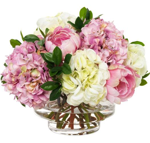PINK HYDRANGEA AND PEONY BOUQUET