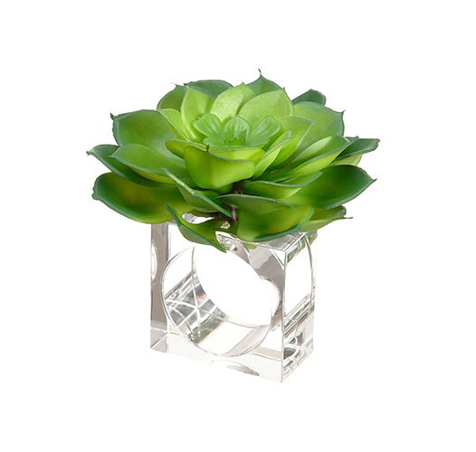 SUCCULENT NAPKIN RING / SET OF 2