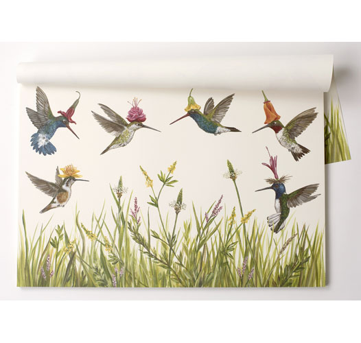 KITCHEN PAPERS HUMMINGBIRDS PAPER PLACEMATS
