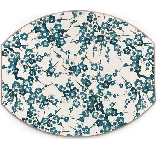 HOLLY STUART HOME BLOSSOM ELLIPSE PLACEMATS