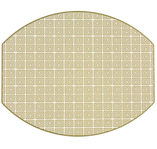 HOLLY STUART HOME HOLLY'S KEY ELLIPSE PLACEMAT