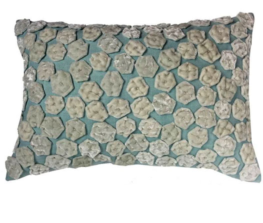 TOURMALINE HOME CELADON ANEMONE PILLOW