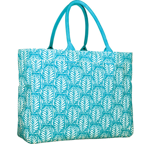 ROCK FLOWER PAPER PALM OCEAN CARRYALL TOTE