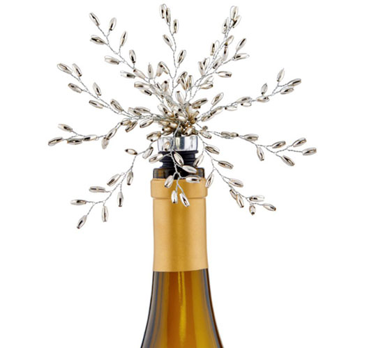 NAPA HOME GILDED WHEAT BEADED WINE STOPPER