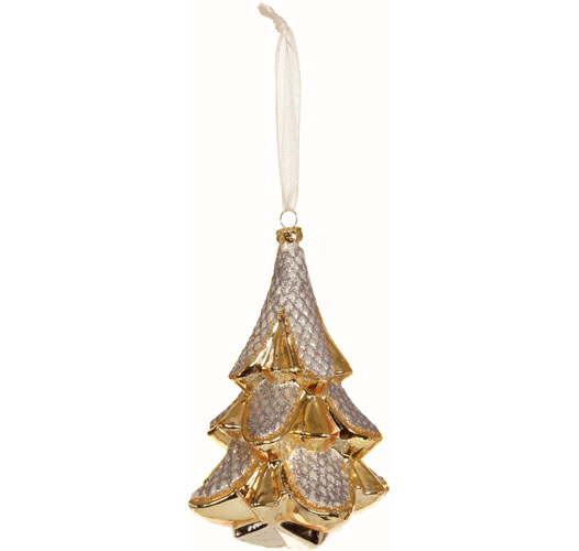 GOLD AND SILVER TREE ORNAMENT