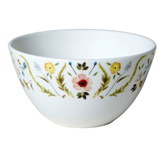 TWIG NY SCANDINAVIAN FLORAL BOWLS / SET OF 2