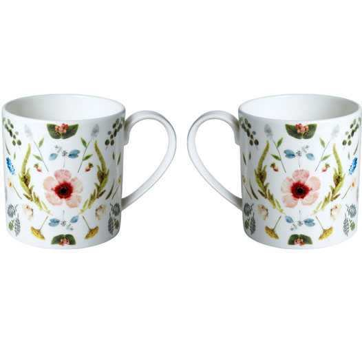 TWIG NY SCANDINAVIAN FLORAL MUGS / SET OF 2