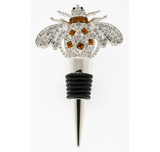 JOANNA BUCHANAN SPARKLE BEE WINE STOPPER