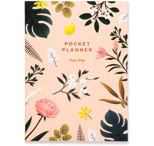 CLAP CLAP BOTANICAL POCKET PLANNER