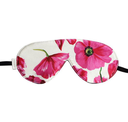 ELIZABETHW POPPY SILK SLEEP MASK