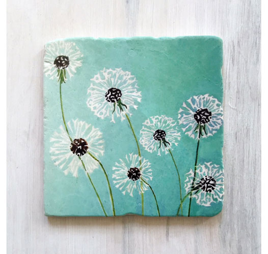 INDIA & PURRY DANDELIONS MARBLETRIVET