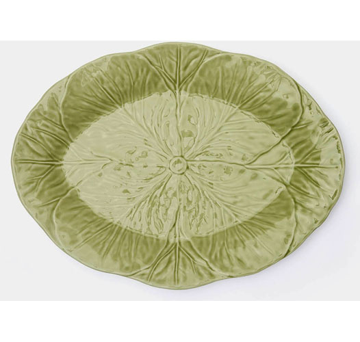 BLUE PHEASANT CLARISE CABBAGE LEAF PLATTER - SMALL