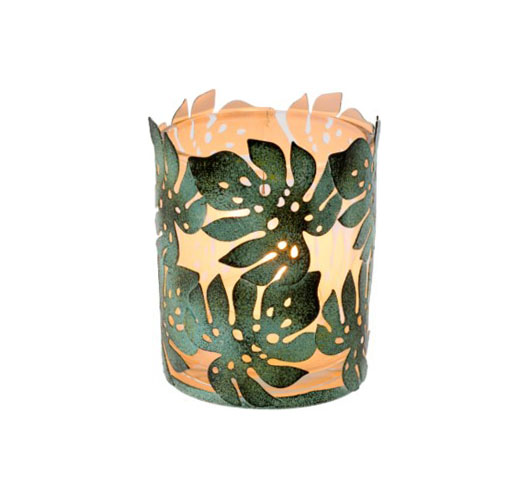 INDABA MONSTERA LEAF VOTIVES - SET OF 4