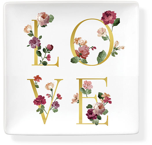 FRINGE STUDIO LOVE LETTERS CERAMIC TRAY