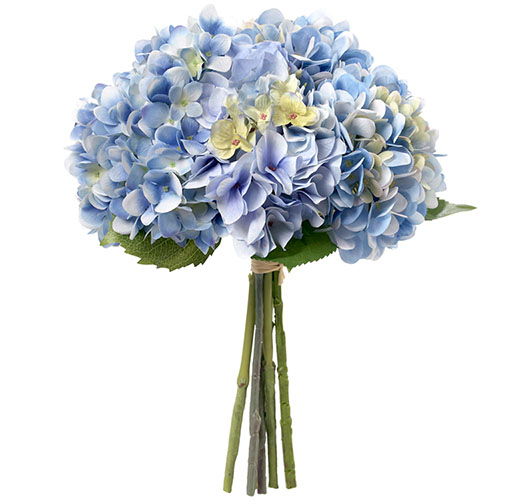HAND-TIED HEAVENLY BLUE HYDRANGEAS