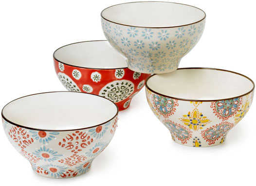 BIG BOHEMIAN BOWLS / SET OF 4