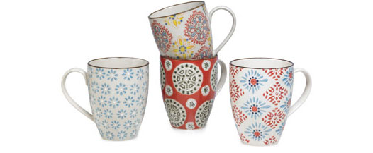 CHEHOMA BOHEMIAN MUGS / SET OF 4