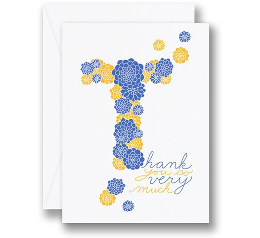 WILLIAM ARTHUR FLORAL MUMS THANK YOU CARDS