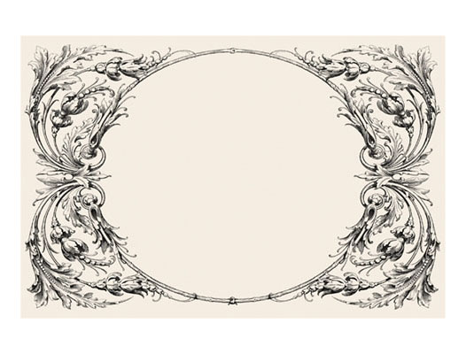 KITCHEN PAPERS ITALIAN SCROLL PAPER PLACEMATS