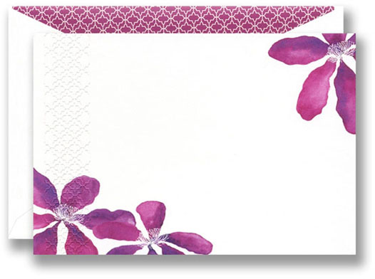 PURPLE CLEMATIS NOTE CARDS