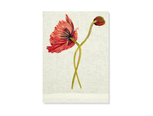 RED POPPY GUEST TOWEL