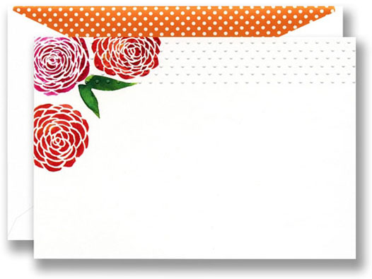 WILLIAM ARTHUR RED RANUNCULUS NOTE CARDS