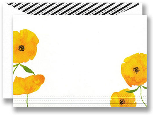 WILLIAM ARTHUR YELLOW POPPIES NOTE CARDS