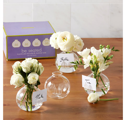 FLOWER PLACE CARD HOLDERS / SET OF 4