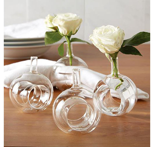 TWO'S COMPANY VASE NAPKIN RING / SET OF 4
