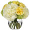 Diane James Yellow Rose and Hydrangea Bouquet
